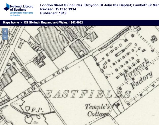 1913 OS map