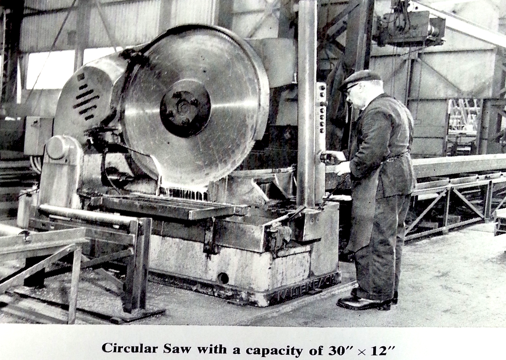 history of circular saw Have for sale 44 early 1900,s circular saw mill blade this blade is prior to blades manufactured to accept insert teeth take a look at pictures and see for yourself.
