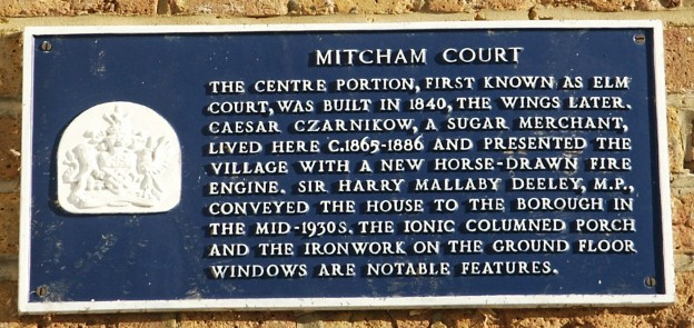 Mitcham Court blue place