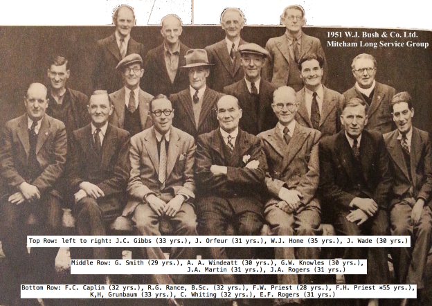 1951 Bush Long Service Group with names