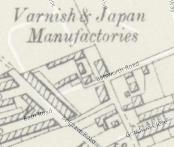 1910 Batsworth Road map