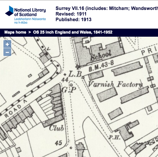 1911 OS map - the pub on the right was the Prince of Wales; and the 'club' was the Singlegate Club.