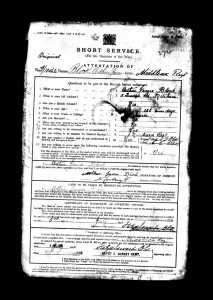 19150707 Arthur James Block service record