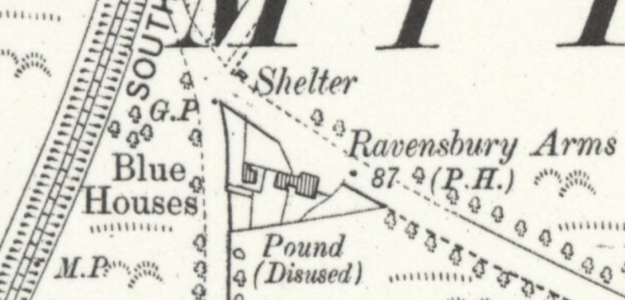 1910 OS Map of Ravensbury Arms