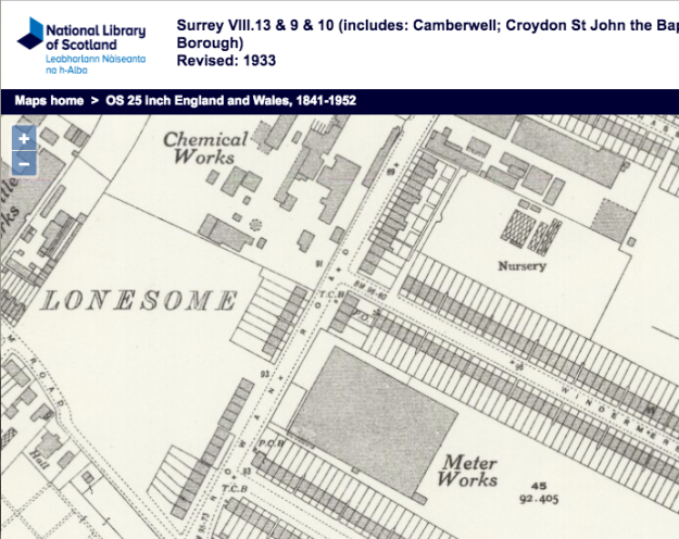 1933 OS Map
