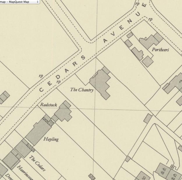 1950 OS Map
