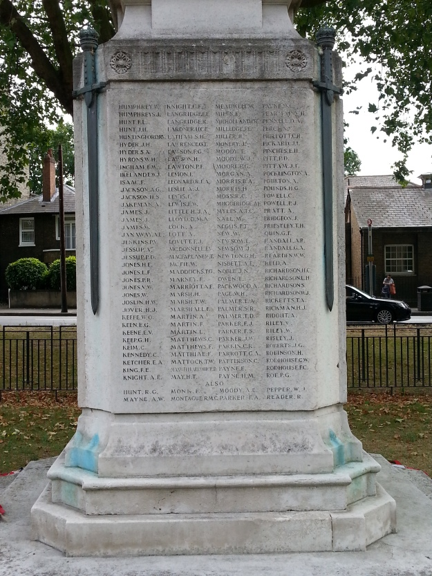 Mitcham War Memorial North Side