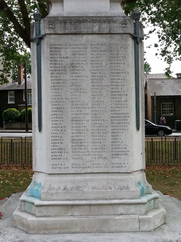 Mitcham War Memorial North Side