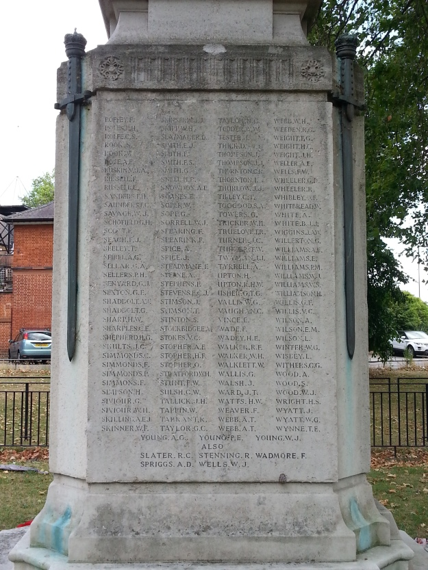 Mitcham War Memorial West Side