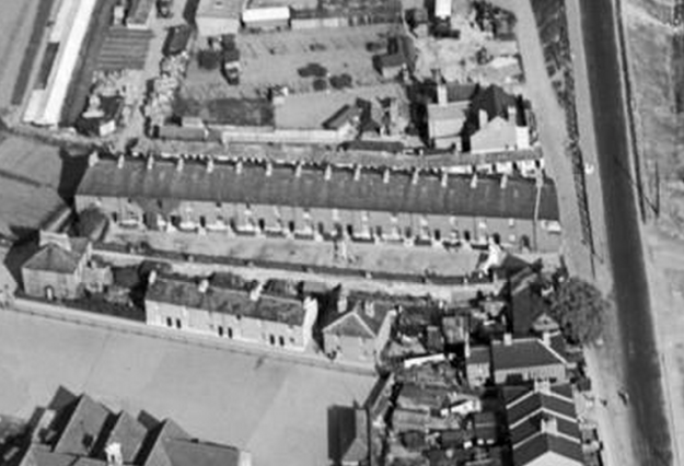 1934 aerial view to north