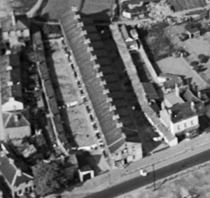 1934 aerial view to west Smiths Buildings