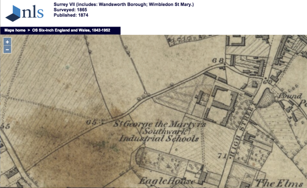 1865 OS Map Bond Road