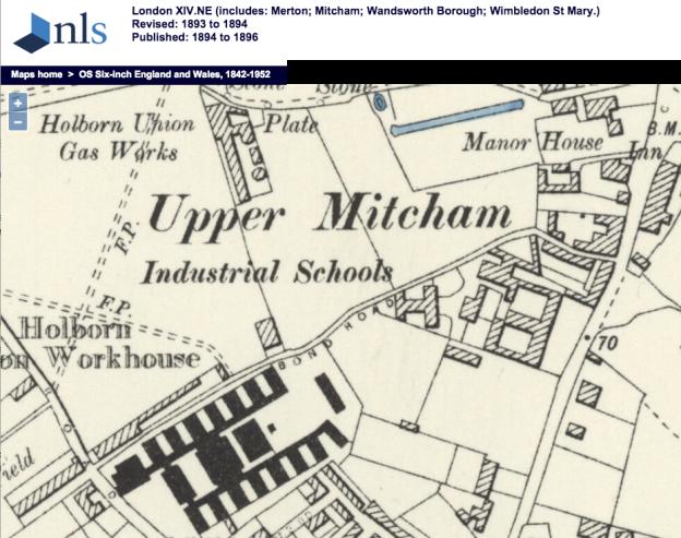 1894 OS Map Bond Road