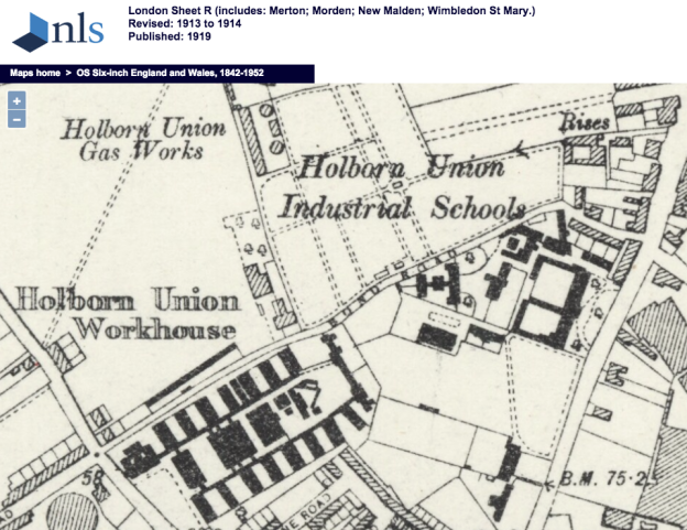 1913 OS Map Bond Road