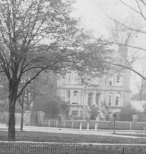 Pre WW2 view from Mitcham War Memorial on Lower Green West. This clip from Merton Memories photo 51182 copyright London Borough of Merton.