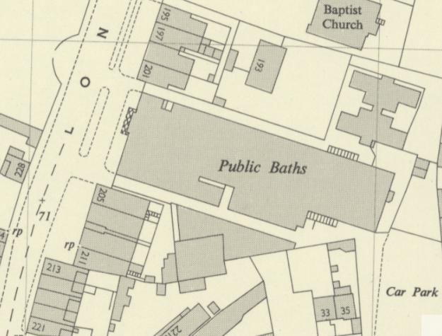 1952 OS map baths