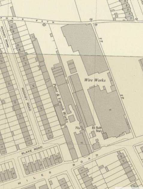 1954 OS map