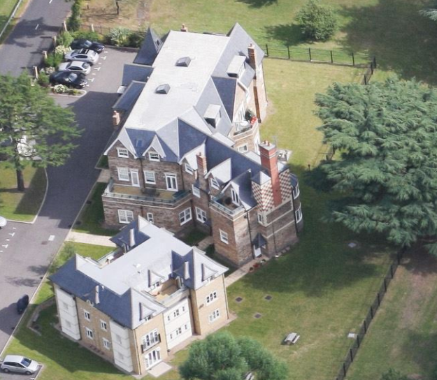 2016 aerial view of Bishopsford converted to flats