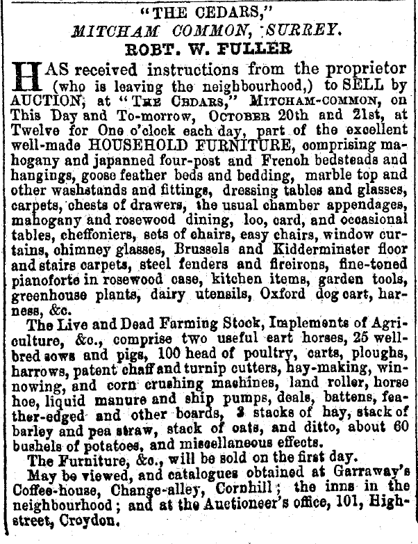20th October 1857 South Eastern Gazette