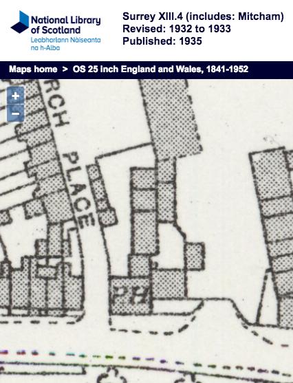 1932 OS Map