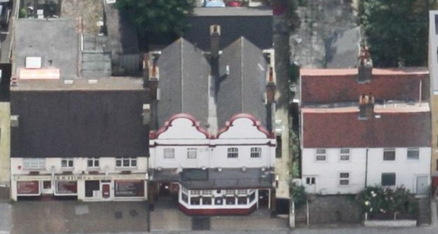 109 and 111 London Road are on the right of the Gardeners Arms pub