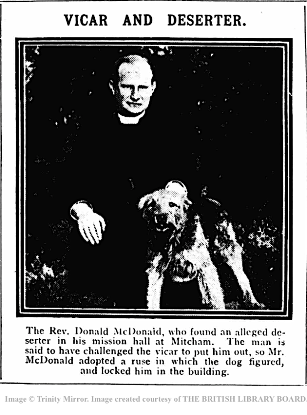 Daily Mirror 19160606 Vicar and Deserter