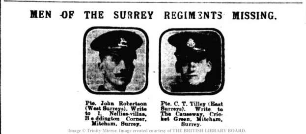 DM19161101 Men of Surrey Regts Missing
