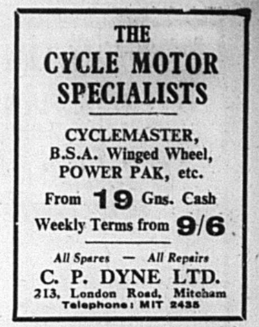 8th July 1954 ad