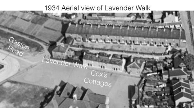 1934 aerial view looking east