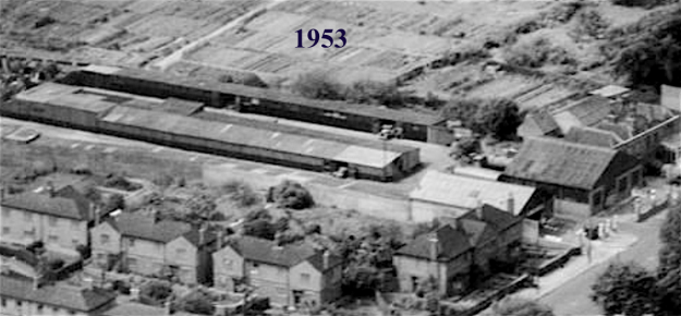 1953 aerial 136 London Road garages