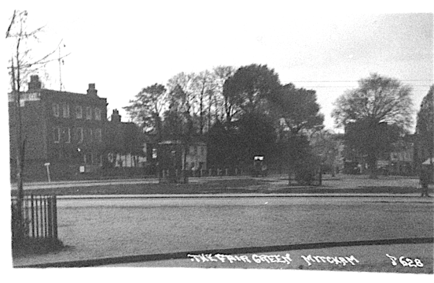 undated photo of the Fair Green shows Durham House on the left