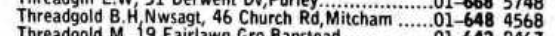 1974 phone book entry for 46 Church Road