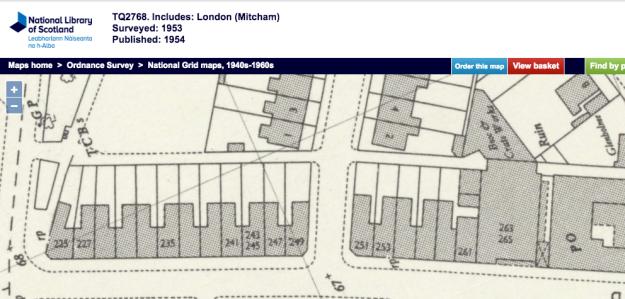 1953 OS Map