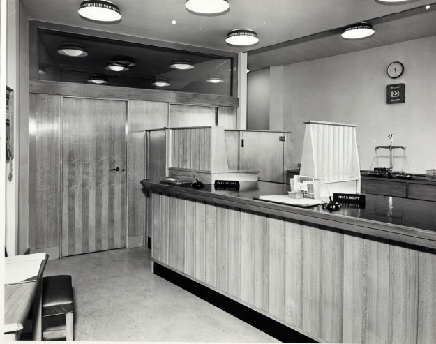 Interior of 6 Fair Green Parade. Courtesy of Barclays Group Archives.