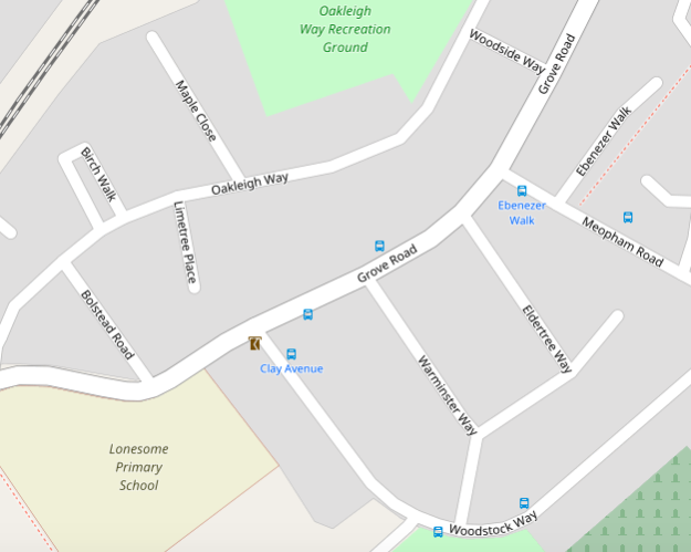 2016 Open Street Map view of the Way roads