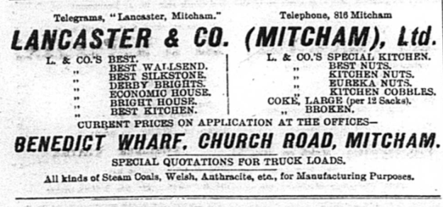 from Mitcham & Tooting Mercury, 11th September, 1914