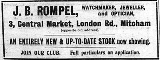 From the Mitcham & Tooting Mercury, 11th September, 1914