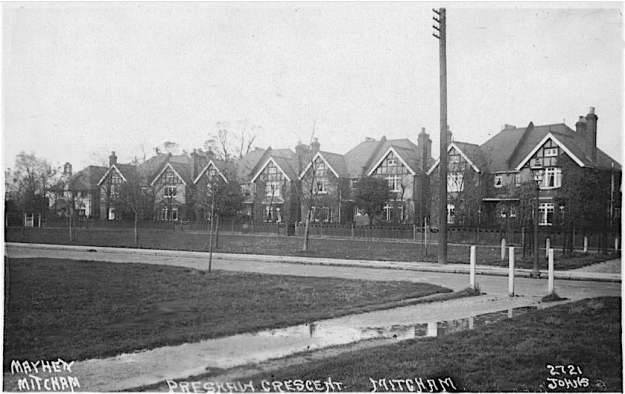 Photo possibly taken after the houses were built.